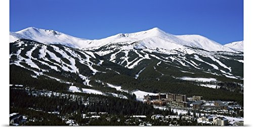 GREATBIGCANVAS Entitled Ski Resorts in Front of a Mountain Range, Breckenridge, Summit County, Colorado Poster Print, 60