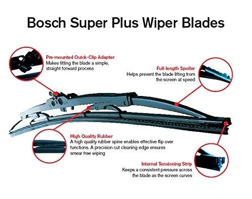Bosch Super 32ML Includes Wurth Screen Wash Replacement Front Screen Windscreen Wiper Blades