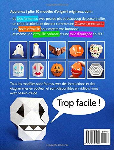 Amazonfr Origami Pour Halloween 10 Modèles Dorigami Faciles