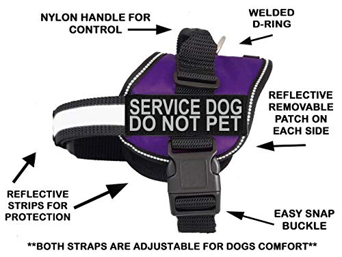 Doggie Vest - Doggie Stylz Service Dog Harness Vest Comes with 2 Reflective Service Dog DO NOT PET Removable Patches. Please Measure Dog Before Ordering (Girth 12-16