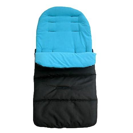 Saco de dormir universal para cochecito de bebé, cochecito, cochecito de bebé, resistente al viento azul azul