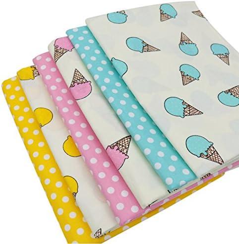 6 piezas 40cm * 50cm helado impreso tela de algodón,telas para hacer patchwork, telas tilda, retales de telas, tela algodon: Amazon.es: Hogar