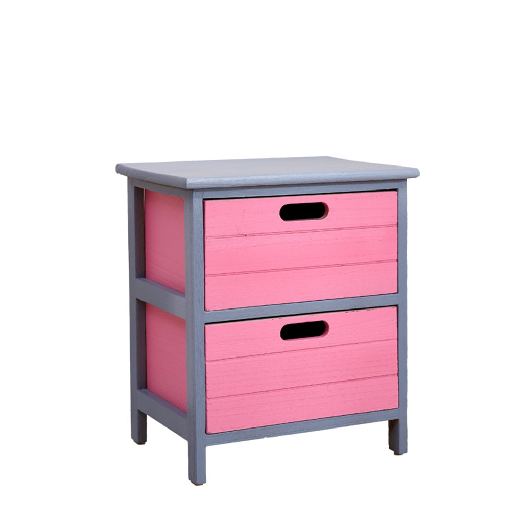 LQQGXLBedside Table Decorative Cabinet, Bedside Table Telephone Table Multi-Function Large Capacity Solid Wood Drawer Small Side Table (Color : A, Size : 382879CM) by LQQGXL