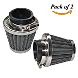 54mm air filter - Baitaihem Pack of 2 Motorcycle POD Air Filter Dirt Pocket Bike ATV Pit Bike 35 38 39 40 42 46 48 50 52 54mm (54mm)