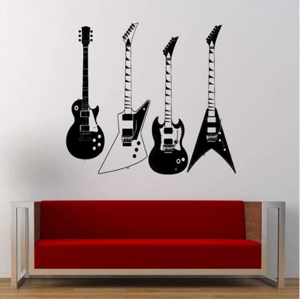 Recogió Cuatro Tipos De Guitarras Eléctricas Tatuajes De Pared ...