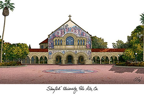 Stanford University Imprinted Home Office Lithograph Print - Stanford Home Office