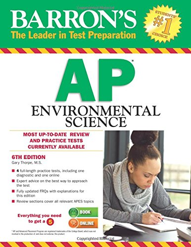 Barron's AP Environmental Science, 6th Edition cover