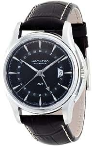 Hamilton Men's H32585531 Jazzmaster Traveler Black GMT Dial Watch