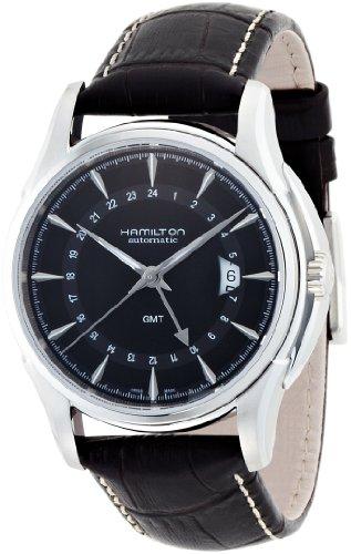 Hamilton Men's H32585531 Jazzmaster Traveler Black GMT Dial (Hamilton Gmt Watch)