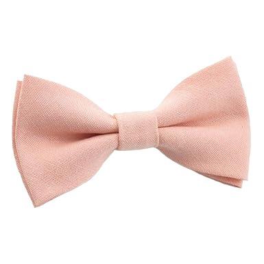 6b4ab6ff3843 Children s Kids Boys Vintage Blush Pink Peach Elasticated Cotton Bow Tie   Amazon.co.uk  Clothing