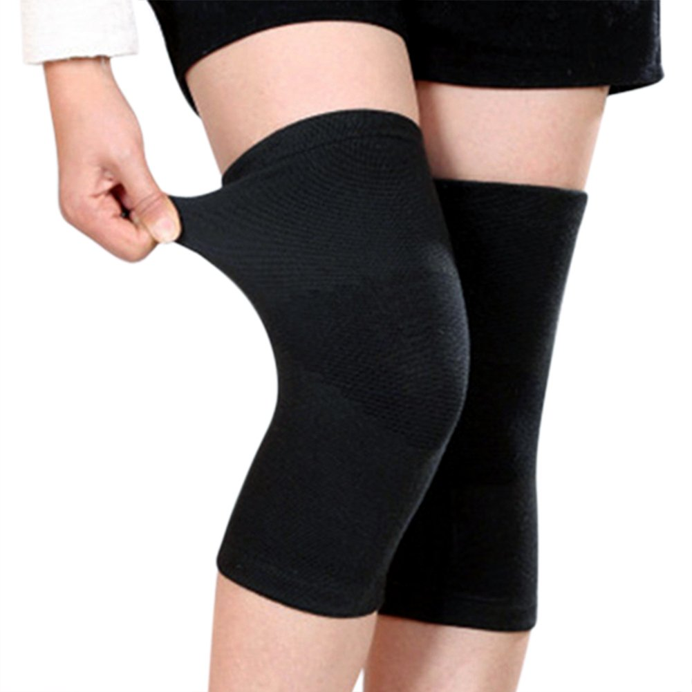5cfded5f23 Amazon.com: 1 Pair Bamboo Fabric Knee Compression Sleeves Knee Support for Joint  Pain & Arthritis Pain Relief, Elastic Knee Brace for Sports, ...