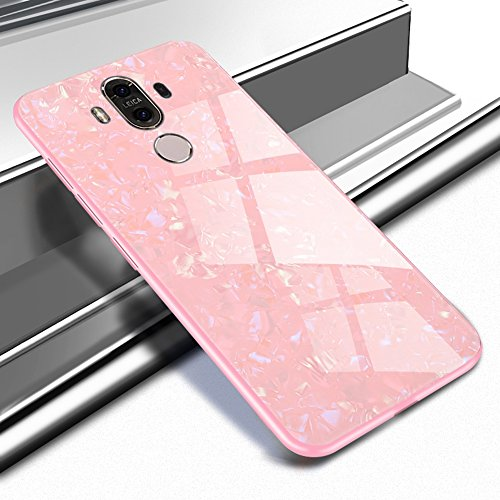 Shunda Funda Huawei Mate 9, Vidrio Templado Carcasa Ultra Delgado Hard Case para Huawei Mate 9 Cubierta Tempered Glass...
