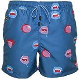 Nikben Big Mouth Men's Swim Shorts, Teal Blue X-Large Teal Blue
