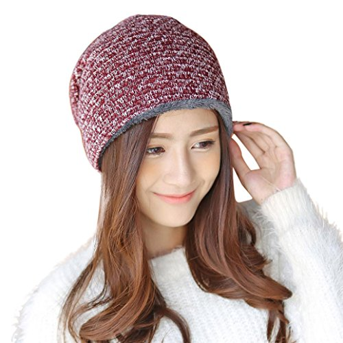 Byyong Women Fashion Winter Warm Cap Crochet Knit