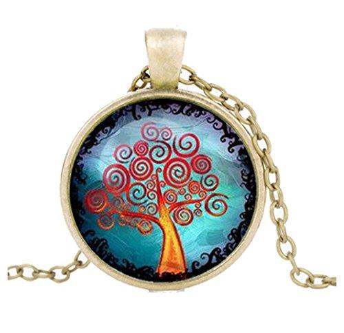 [Mr Rabbit New Temperament Retro Life Tree Time Gemstone Necklace] (Big Bird Male Costumes)