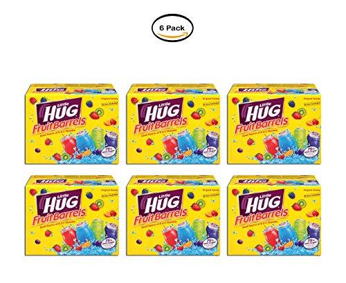 (PACK OF 6 - Little Hug Fruit Drink Barrels, Original Variety Pack, 8 Fl Oz, 40 Count)