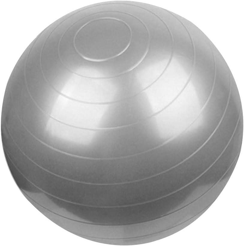 Demino Fitness PVC Anti-Burst-Yoga-/Übung Kugel Stabilit/ät Rutschhemmende Kugel/übungsger/äte Silber-Grau 65cm