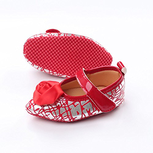 Leap Frog  Point Toe Mary Jane, Baby Mädchen Lauflernschuhe Rot
