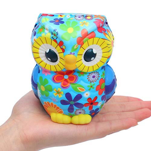 Stress Relief Toys - 1pc - Decorative Cartoon Tatoo Owl Shape - Scented Charm Slow Rising Doll Rebound Toys - Birthday Holiday Party Favors for Kids Adults -