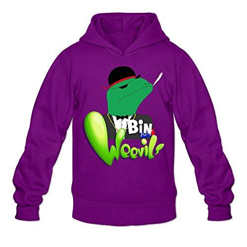 TOP WANG Men's Youtube LeafyIsHere Weevik Hoodies Purple -