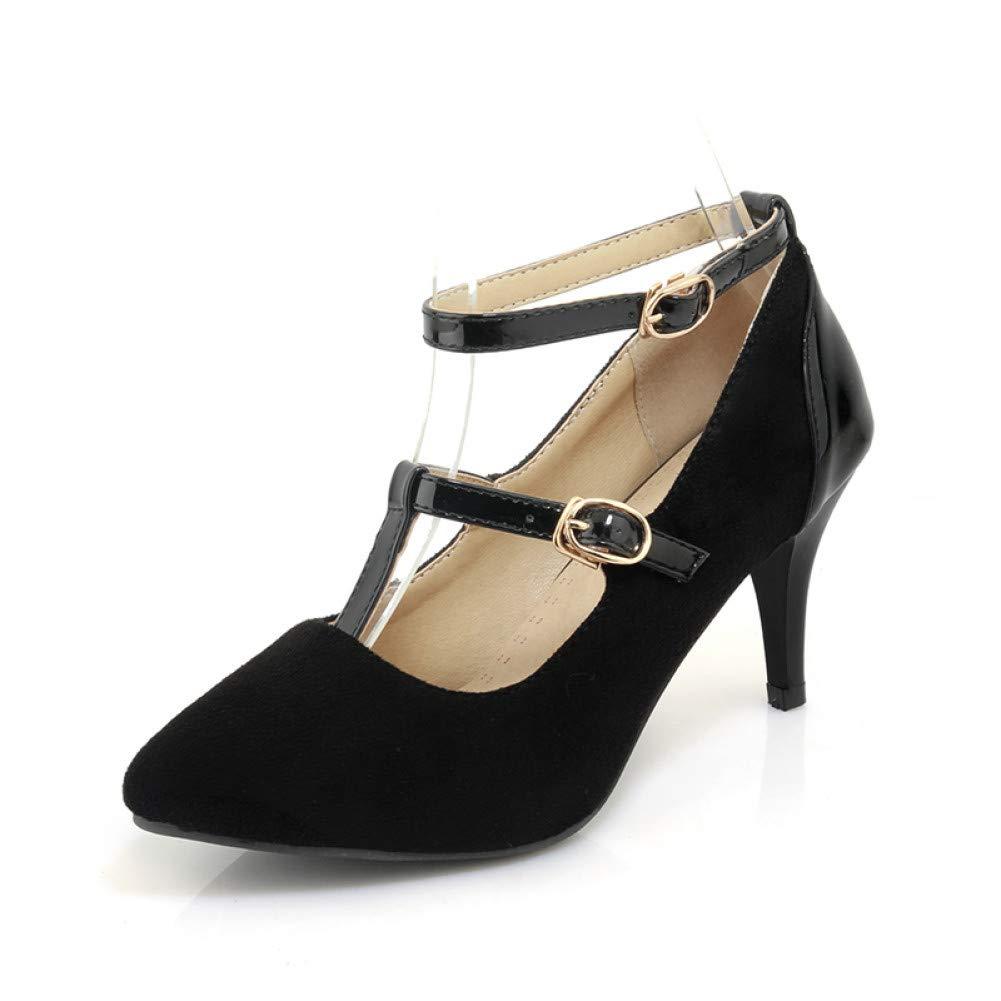 Ai Ya-liangxie Big Größe Größe Größe 34-43 Frühling Sommer Mary Janes Schuhe Mode Frau Roten Pumps High Heels Schwarz Damenschuhe Schuhe 486b50