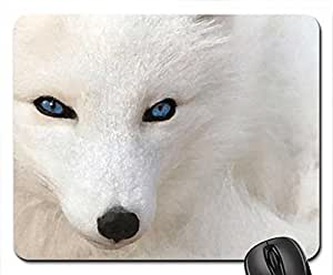 blue eyes fox Mouse Pad, Mousepad (Watercolor style)