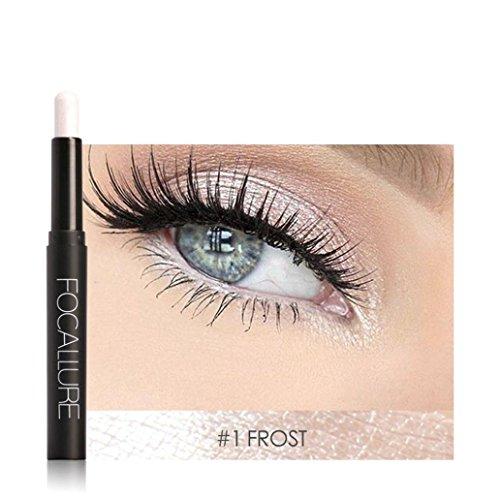 (DMZing FOCALLURE 12 Colors Pro Highlighter Shimmer Eyeshadow Pencil Waterproof Eyeliner Pen Flash Colors Long Lasting Waterproof (ESP-0A))