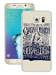 Cheap Abstract Samsung Galaxy S6 Edge+ Case,Hillsong United Oceans Lyric White New Custom Design Samsung Galaxy S6 Edge Plus Cover Case