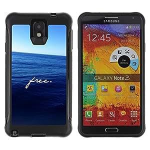 Suave TPU Caso Carcasa de Caucho Funda para Samsung Note 3 / free ocean motivational deep blue sea / STRONG