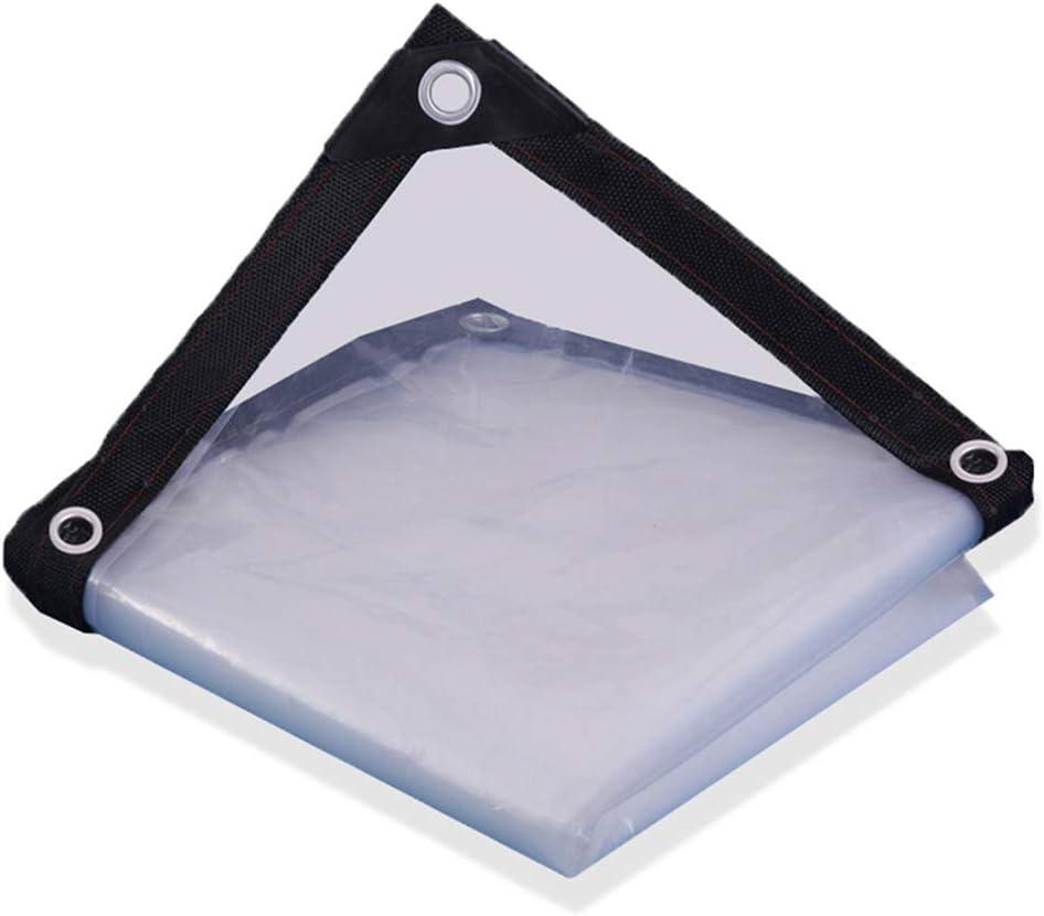 SACYSAC Cubierta de cobertizo de Lona Transparente Membrana a Prueba de Humedad cochera Sombra plástico a Prueba de Polvo,4 * 8m: Amazon.es: Hogar