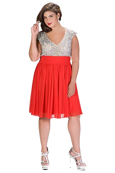 AB Rhinestone Plus Size Bridesmaid Dress Black, Red or Blue ...
