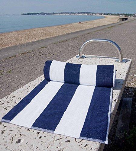 Peso ligero pool- Toallas de playa resistente al cloro en azul y blanco: Amazon.es: Hogar