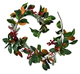 Cypress Home Red Berry Holiday Garland, 6 Foot