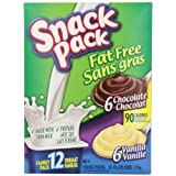 Snack Pack Fat Free Chocolate and Vanilla Pudding (Pack of 6)