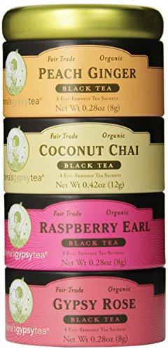 Zhena's Gypsy Tea, Black Tea Sampler Tin, 16 Count Tea Sachets