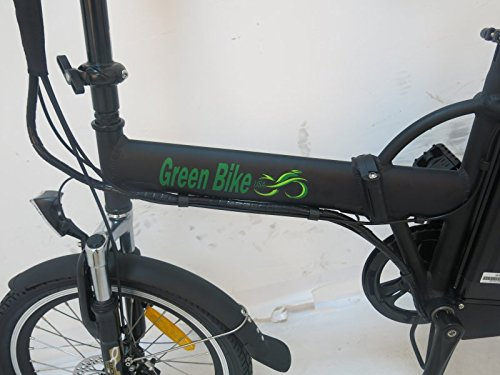 GreenBike USA Electric Motor Power Bicycle Lithium Battery Bike (Black) Best Deal