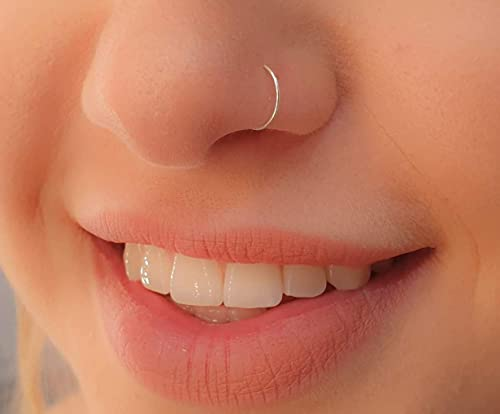 Nose Cuff Faux Clip On Silver,Gold Nose Hoop,Fake Nose Ring No Piercing Needed!
