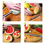Watermelon Slicer Knife Cutter Corer Peeler with Baller The Best 304 Stainless Steel Melon and Fruit Cut Decor and Server Set