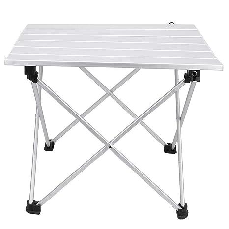 Yencoly Mesa Plegable, Mesa de aleación de Aluminio Mesa ...