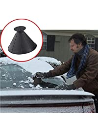 Birdfly A Round Magic Cone-Shaped Windshield Ice Scraper Snow Shovel Tool, Car Windshield Snow Cone Shaped Scrapers