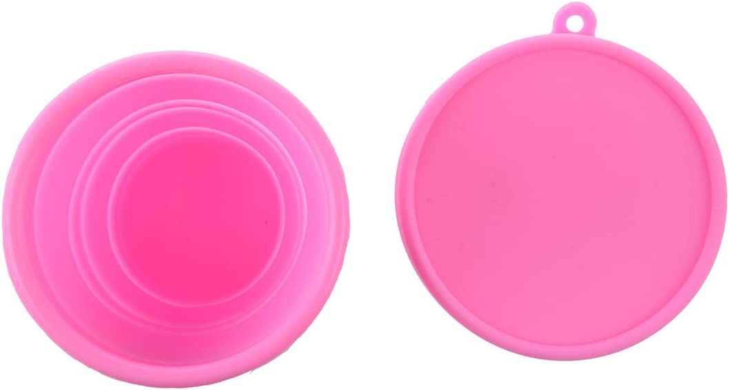 Pink Xigeapg Space Saving Up Camping Mug Collapsible Folding Travel Cup