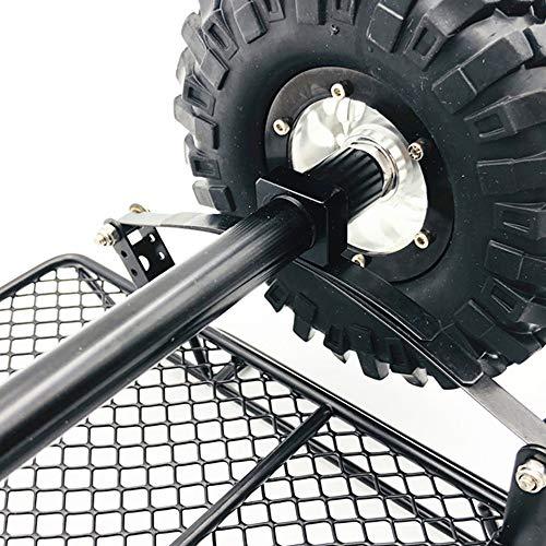 Hisoul for 1/10 D90 TRX-4 Truck RC Car Trailer Parts Plastic Metal Upgrade Trailer DIY Part Set (Black) by Hisoul (Image #8)