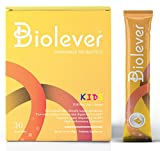 Biolever Kids Drinkable Probiotics and Prebiotics Powder | Clinically Formulated for Children | Support Daily Digestive and Immune Health | Flavorless, Colorant Free, Sugar Free, Non-GMO | 30 Packets