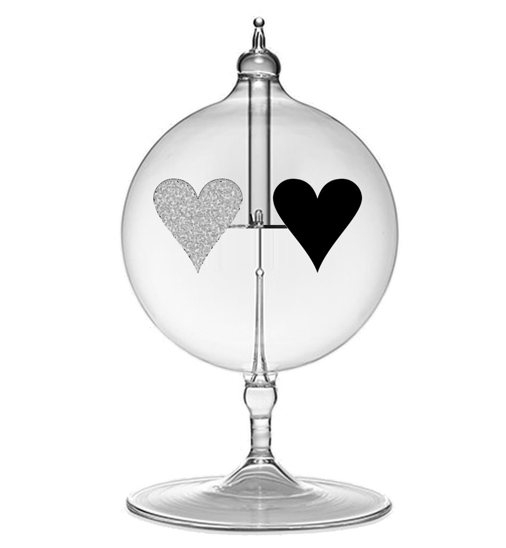 Radiometer Solar Spinning Heart - Light Mill Powered by the Sun - Radiometer Converts Light Energy into Mechanical Energy