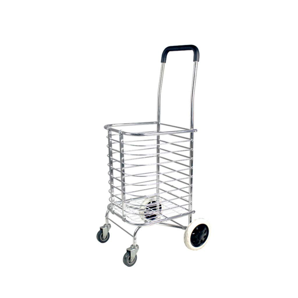 Xilinshop Portable Utility Carts Can Climb The Stairs Shopping Cart Folding Hand Cart Shopping Cart Home Pull Trailer ( Color : A )
