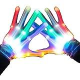LED Gloves, Light up Rave Gloves, Glow In The Dark LED Skeleton Gloves by Kandi Gear