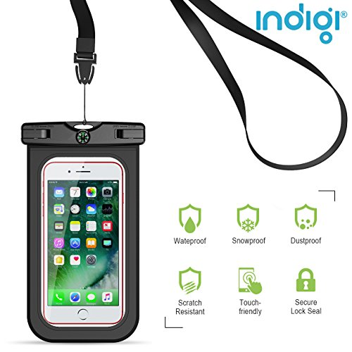 Indigi Universal Waterproof Pouch for SmartPhones & Valuables + Touch...