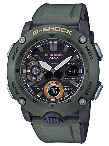 Men's Casio G-Shock Analog-Digital Carbon Core Guard Olive Green Watch GA2000-3A (Best Selling G Shock 2019)