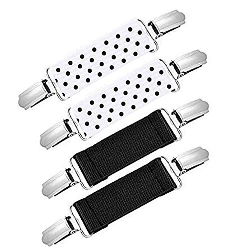 4 Pieces Kids Mitten Clips Strong Stainless Steel Adjustable Elastic Mitten and Glove Clips