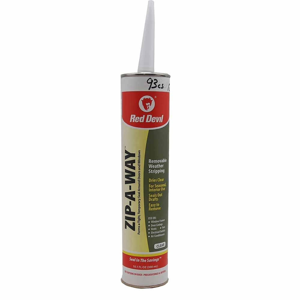 Red Devil 0606 Zip a Way Removable Sealant, Clear, 10.1-Ounce